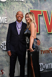 May 19, 2017 - Los Angeles, CA, USA - LOS ANGELES - MAY 19:  Russell Simmons, Amy Shiels at the ''Twin Peaks'' Premiere Screening at The Theater at Ace Hotel on May 19, 2017 in Los Angeles, CA (Credit Image: © Kay Blake via ZUMA Wire)