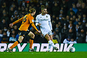 Leeds United midfielder Kalvin Phillips (23) passes the ball during the EFL Sky Bet Championship match between Leeds United and Hull City at Elland Road, Leeds, England on 10 December 2019.