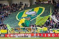DEN HAAG - 30-10-2016, ADO Den Haag - AZ , Kyocera Stadion, 0-1, sfeer, spandoek, supporters.