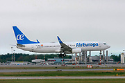 Air Europa, Boeing 737-800 Next Gen Photographed at Malpensa airport, Milan, Italy
