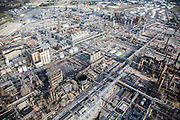 The BP Refinery occupies 1400 acres and refines an average of 19 million gallons of fuel daily (452,000 barrels). In 2013, approximately 4.9 million of these gallons (119,000 barrels) were refined daily from tar sands crude.