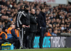 Swansea City Head Coach, Francesco Guidolin and Tottenham Hotspur Manager Mauricio Pochettino in their technical areas - Mandatory byline: Robbie Stephenson/JMP - 28/02/2016 - FOOTBALL - White Hart Lane - Tottenham, England - Tottenham Hotspur v Swansea City - Barclays Premier League