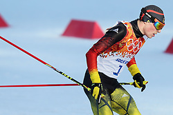 Eric Frenzel of Germany wins the gold medal during the Nordic Combined Individual Gundersen Normal Hill and 10km Cross Country on day 5 of the Sochi 2014 Winter Olympics at the RusSki Gorki Nordic Combined Skiing Stadium, The XXII Winter Olympic Games 2014 in Sotchi, Olympics, Olympische Winterspiele Sotschi 2014