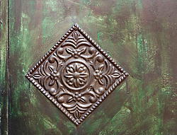 Detail of ornate door inside Karak Castle in Jordan