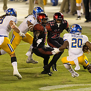 21 October 2016: The San Diego State Aztecs football team takes on the San Jose State Spartans Friday night at Qualcomm Stadium. The Aztecs beat the Spartans 42-3 to extend there home win streak. www.sdsuaztecphotos.com