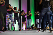 "Alpha Kappa Alpha Sorority, Inc. Delta Phi Chapter perform a ""stroll"" during the Black Alumni Reunion Variety Show in Baker Ballroom on Saturday, September 17, 2016. © Ohio University / Photo by Kaitlin Owens"