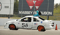 24 Hours of LeMons race at New Hampshire Motor Speedway on Sunday, May 6, 2012.  Karen Bobotas/for the Concord Monitor