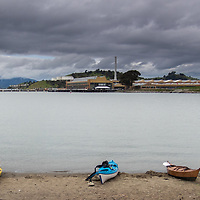 Boats on the Beach at Barbar and Jay Vincent Park. Richmond.