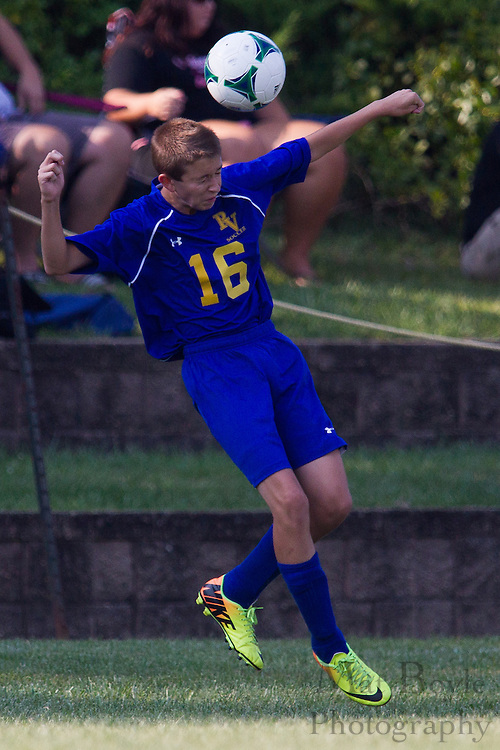 Pitman Boy's Soccer vs Pennsville Memorial High School at Alcyon Park in Pitman, NJ on Wednesday September 11, 2013. (photo / Mat Boyle)