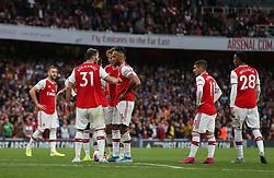Pierre-Emerick Aubameyang of Arsenal prepares to take a free kick - Mandatory by-line: Arron Gent/JMP - 22/09/2019 - FOOTBALL - Emirates Stadium - London, England - Arsenal v Aston Villa - Premier League