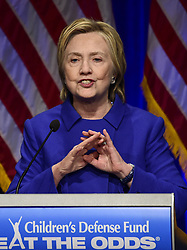 November 16, 2016 - Washington, District of Columbia, United States of America - Democratic Presidential candidate Hillary Clinton makes remarks at the Children's Defense Fund Beat the Odds Celebration at the Newseum in Washington, DC on Wednesday, November 16, 2016.  This is Secretary Clinton's first public appearance since she conceded the election to Donald Trump..Credit: Ron Sachs / CNP. (Credit Image: © Ron Sachs/CNP via ZUMA Wire)