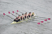Chiswick. London.  Abingdon, approach the start line as they compete in the 2011 Schools Head of the River Race, Mortlake to Putney, over the  Championship Course.Taken from Chiswick Bridge.  Thursday  17/03/2011 [Mandatory Credit, Peter Spurrier/Intersport-images]