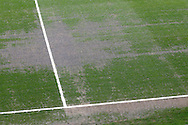 Picture of the Charlton Athletic pitch beforethe Sky Bet Championship match at The Valley, London<br /> Picture by Andrew Tobin/Focus Images Ltd +44 7710 761829<br /> 05/04/2014