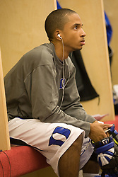 18 May 2008: Duke Blue Devils goalkeeper Devon Sherwood (1) before a 21-10 win over the Ohio State Buckeyes during the NCAA quarterfinals held at Cornell University in Ithaca, NY.
