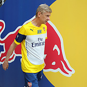 Arsenal Manager Arsène Wenger heads out for training at Red Bull Arena ahead of the friendly match between Arsenal and New York Red Bulls. Red Bull Arena, Harrison, New Jersey. USA. 24th July 2014. Photo Tim Clayton