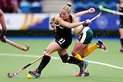 Stacey Michelsen of New Zealand in action during the bronze medal match between New Zealand and South Africa. Glasgow 2014 Commonwealth Games. Hockey, Bronze Medal Match, Black Sticks Women v South Africa, Glasgow Green Hockey Centre, Glasgow, Scotland. Saturday 2 August 2014. Photo: Anthony Au-Yeung / photosport.co.nz
