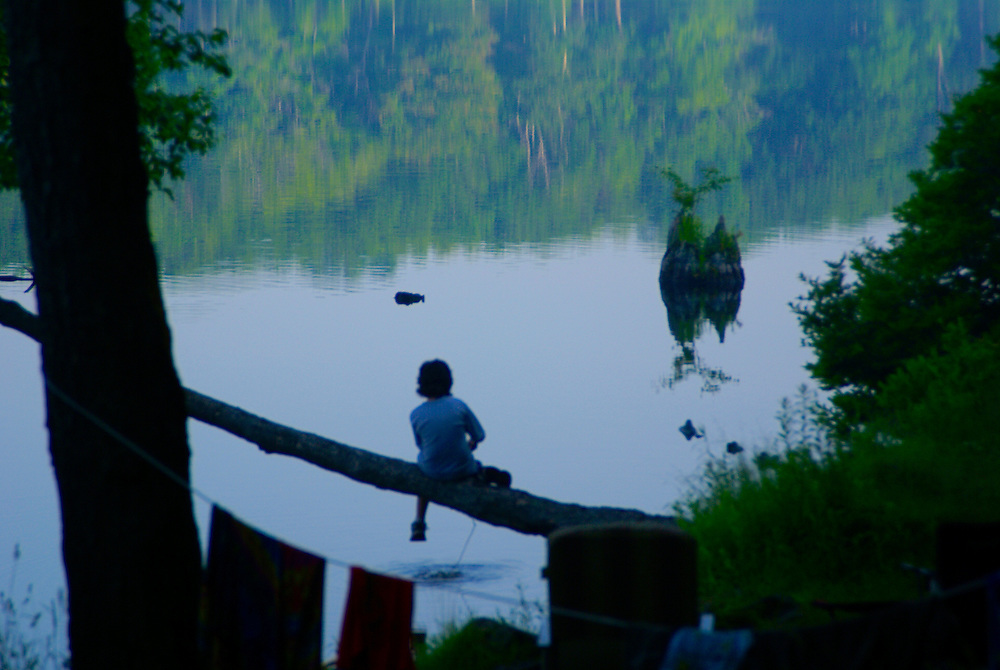 Promised Land State Park, boy and lake,