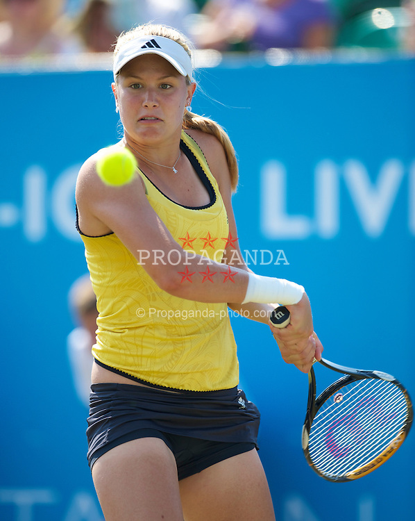 LIVERPOOL, ENGLAND - Thursday, June 17, 2010: Eugenie Bouchard (CAN) duirng the Ladies' Singles match on day two of the Liverpool International Tennis Tournament at Calderstones Park. (Pic by David Rawcliffe/Propaganda)