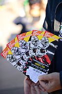 GLENDALE, AZ - JANUARY 01:  Detail view of the BattleFrog Fiesta Bowl tickets at University of Phoenix Stadium on January 1, 2016 in Glendale, Arizona.  (Photo by Jennifer Stewart/Getty Images)