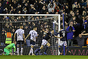 GOAL - Millwall defender Murray Wallace (25) celebrates with Millwall forward Lee Gregory (9) 3-2 during the The FA Cup fourth round match between Millwall and Everton at The Den, London, England on 26 January 2019.