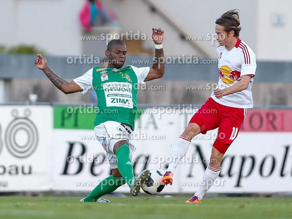22.04.2014, Reichshofstadion, Lustenau, AUT, 2. FBL, SC Austria Lustenau vs FC Liefering, 30. Runde, im Bild Jailson Severiano Alves, (SC Austria Lustenau #07) und Stefan Savic, (FC Liefering, #10) during Austrian Second Bundesliga Football Match, 30th round, between SC Austria Lustenau vs FC Liefering the Reichshofstadion, Lustenau, Austria on 2014/04/22. EXPA Pictures © 2014, PhotoCredit: EXPA/ Peter Rinderer