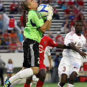 Richmond goalkeeper Ronnie Pascal makes a save during the United Soccer League Pro American Division Championship soccer match between the Richmond Kickers and the Orlando City Lions at the Florida Citrus Bowl on August 27, 2011 in Orlando, Florida. Orlando won the match 3-0 to advance to the USL Pro Final.  (AP Photo/Alex Menendez)