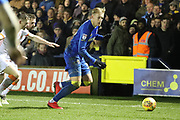 AFC Wimbledon striker Joe Pigott (39) dribbling during the EFL Sky Bet League 1 match between AFC Wimbledon and Blackpool at the Cherry Red Records Stadium, Kingston, England on 20 January 2018. Photo by Matthew Redman.