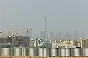 Dubai . .Dubai Recent development  near Sheikh Zayed Road (in background)  entering Dubai from  Abu Dhabi.