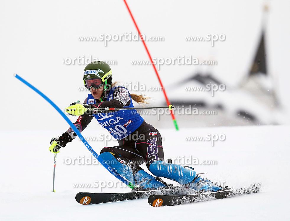 29.12.2013, Hochstein, Lienz, AUT, FIS Weltcup Ski Alpin, Damen, Slalom 2. Durchgang, im Bild Resi Stiegler (USA) // Resi Stiegler of (USA) during ladies Slalom 2nd run of FIS Ski Alpine Worldcup at Hochstein in Lienz, Austria on 2013/12/29. EXPA Pictures © 2013, PhotoCredit: EXPA/ Oskar Höher