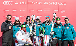 20.03.2011, Pista Silvano Beltrametti, Lenzerheide, SUI, FIS Ski Worldcup, Finale, Lenzerheide, NATIONEN TEAM EVENT, im BildBetreuer, Damen Cheftrainer Herbert Mandl, Anna Fenninger (AUT), Michaela Kirchgasser (AUT), Elisabeth Görgl, während des Nationen Team Event im Zielraum auf der Lenzerheide. //  supervisors, Cheftrainer Herbert Mandl, Anna Fenninger (AUT), Michaela Kirchgasser (AUT), Elisabeth Görgl during Nations Team Event, at Pista Silvano Beltrametti, in Lenzerheide, Switzerland, 20/03/2011, EXPA Pictures © 2011, PhotoCredit: EXPA/ J. Feichter
