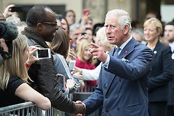 June 26, 2017 - Manchester, Greater Manchester, UK - Manchester , UK . The Prince of Wales and the Duchess of Cornwall visit Manchester Town Hall to thank medical staff and meet community leaders and young people to discuss the impact on the community of the murderous terror attack that took place after an Ariana Grande concert at Manchester Arena on 22nd May 2017  (Credit Image: © Joel Goodman/London News Pictures via ZUMA Wire)