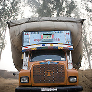 A truck with the goods in Punjab.