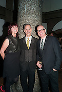 Janet Street-Porter; John Waters; Neil Tennant; , DINNER TO CELEBRATE THE ARTISTS OF FRIEZE PROJECTS AND THE EMDASH AWARD 2012 hosted by ANDREA DIBELIUS founder EMDASH FOUNDATION, AMANDA SHARP and MATTHEW SLOTOVER founders FRIEZE. THE FORMER CENTRAL ST MARTIN'S SCHOOL OF ART AND DESIGN, SOUTHAMPTON ROW, LONDON WC1. 11 October 2012