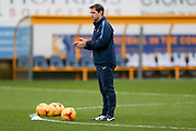 York City Manager Jackie McNamara during the Sky Bet League 2 match between Mansfield Town and York City at the One Call Stadium, Mansfield, England on 28 December 2015. Photo by Simon Davies.