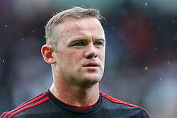 Wayne Rooney of Manchester United looks on - Mandatory byline: Rogan Thomson/JMP - 07966 386802 - 30/08/2015 - FOOTBALL - Liberty Stadium - Swansea, Wales - Swansea City v Manchester United - Barclays Premier League.
