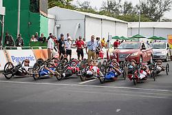 Cycling, Road Race, Start, H4, JEANNOT Joel, FRA, BOSREDON Mathieu à Rio 2016 Paralympic Games, Brazil