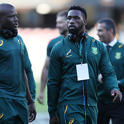 Oupa Mohoje with Siya Kolisi of South Africa during the 2nd Castle Lager Incoming Series Test match between South Africa and France at Growthpoint Kings Park on June 17, 2017 in Durban, South Africa. (Photo by Steve Haag Sports)