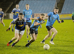 Oisin Brady Claremorris and Westport's Eoghan McLaughlin battling during the U21 A Final<br />