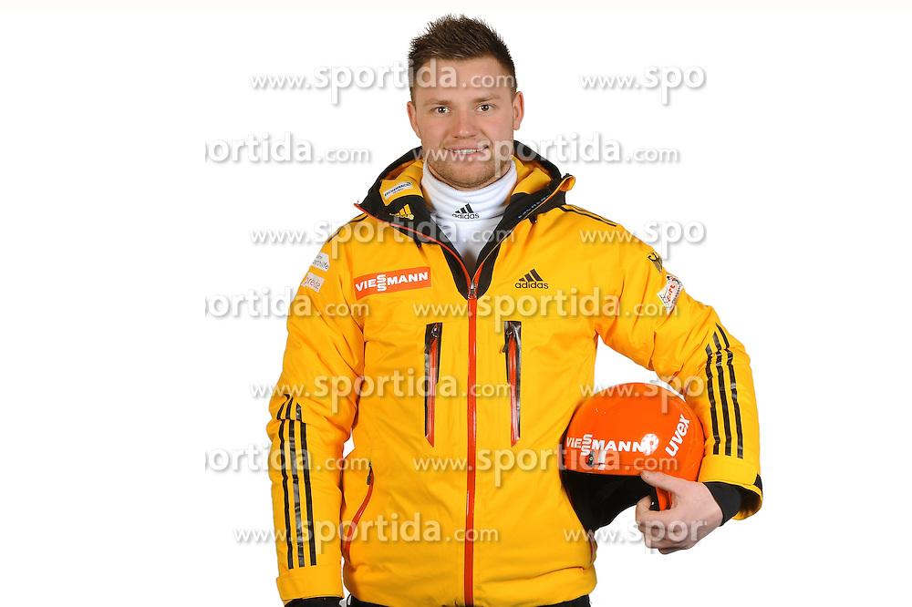 03.01.2014, Kunsteisbahn, Koenigssee, GER, BSD, Rennrodler Team Deutschland, Portrait, im Bild Toni Eggert (BRC 1924 Ilsenburg/Harz) // during Luge athletes of team Germany, Portrait Shooting at the Kunsteisbahn in Koenigssee, Germany on 2014/01/04. EXPA Pictures &copy; 2014, PhotoCredit: EXPA/ Eibner-Pressefoto/ Stuetzle<br /> <br /> *****ATTENTION - OUT of GER*****
