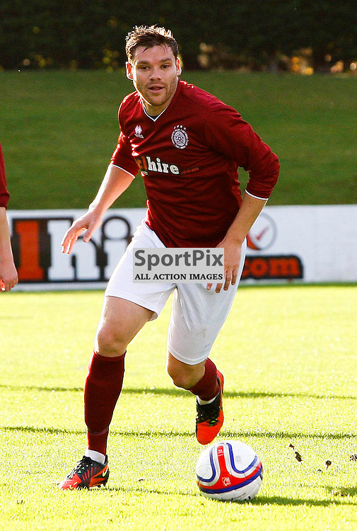 Kevin Kelbie<br /> in action for Linlithgow Rose who made history when they became the first junior club to reach the Scottish Cup 5th round when they beat Forfar Athletic 1-0 on 26th January 2016<br /> (c) Andrew West | SportPix.org.uk
