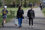 As the second week of the Coronavirus lockdown continues and a week before Easter when Prime Minister Boris Johnson reminds Britons to stay locally and not to travel to beauty spots, the UK death toll rises to 2,921, with 1m cases of Covid-19 worldwide in 181 countries, Londoners enjoy sunshine and spring temperatures in Brockwell Park in Herne Hill, 3rd April 2020, in south London, England.