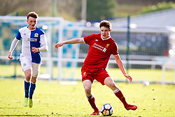 BLACKBURN, ENGLAND - Saturday, January 6, 2018: Liverpool's Morgan Boyes during an Under-18 FA Premier League match between Blackburn Rovers FC and Liverpool FC at Brockhall Village Training Ground. (Pic by David Rawcliffe/Propaganda)