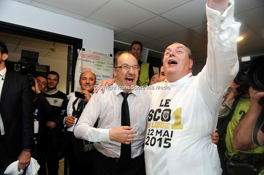 Joie Angers - Said CHABANE - Accession en L1 - 22.05.2015 - Angers / Nimes - 38eme journee Ligue 2<br />Photo : Nolwenn Le Gouic / Icon Sport