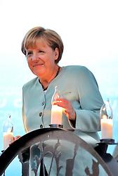 26.08.2013, Zwickau, GER, CD Wahlkampf, Bundeskanzlerin Angela Merkel besucht Zwickau, im Bild Bundeskanzlerin Angela Merkel (CDU) bekam einen Schwibbogen geschenkt // during German Chancellor Angela Merkel visited Zwickau occasion of the CDU election program, Germany on 2013/08/26. EXPA Pictures © 2013, PhotoCredit: EXPA/ Eibner/ Bert Harzer<br /> <br /> ***** ATTENTION - OUT OF GER *****