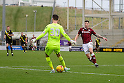Morecambe Goalkeeper Kieran O'Hara during the Sky Bet League 2 match between Northampton Town and Morecambe at Sixfields Stadium, Northampton, England on 23 January 2016. Photo by Dennis Goodwin.