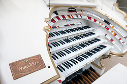Wurlitzer organ on display at Musikinstrumenten Museum or Museum of Musical Instruments in Mitte Berlin Germany