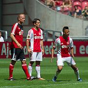 Amsterdam, 25-07-2013. Zo'n 20.000 fans waren naar de Amsterdam Arena gekomen voor de Open dag van Ajax. De spelers werden gepresenteerd  en trainden in de Arena. Foto: Dennis Bergkamp, Bojan Krkić en Sana.