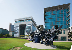 Sculpture Mariposas by Manolo Valdes at DIFC ( Dubai International Financial Centre) a special economic zone in Dubai, UAE, United Arab Emirates.