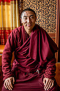 Lama Trinli Gyatso, is a living Buddha and an environmental activist. Together with his father he runs a network of environmental volunteers dedicated to protecting the Tibetan plateau and the Mekong river. Zado, Tibet (Qinghai, China).