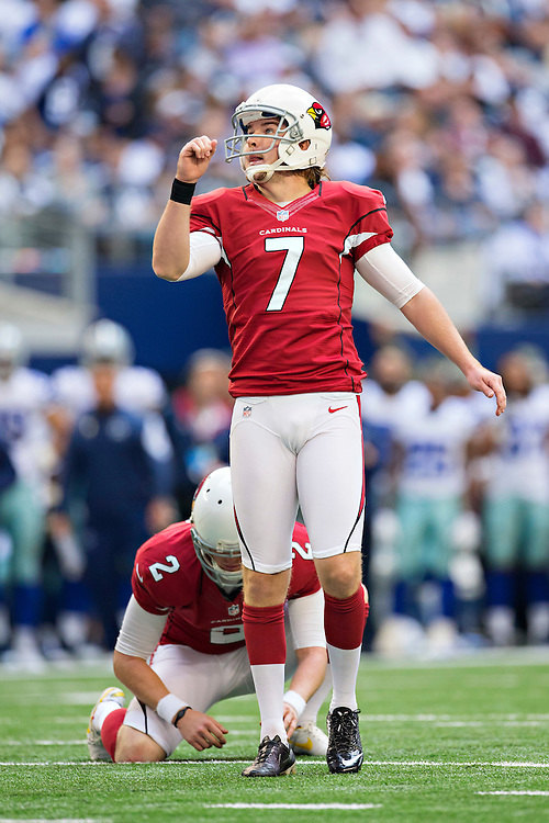 ARLINGTON, TX - NOVEMBER 2:  Chandler Catanzaro #7 of the Arizona Cardinals kicks a extra point during a game against the Dallas Cowboys at AT&T Stadium on November 2, 2014 in Arlington, Texas.  The Cardinals defeated the Cowboys 28-17.  (Photo by Wesley Hitt/Getty Images) *** Local Caption *** Chandler Catanzaro